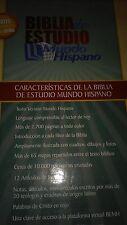 Biblia de Estudio Mundo Hispano -  Piel Europea