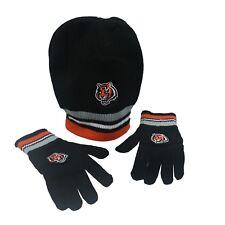 Cincinnati Bengals Official NFL Youth Boys OSFM Winter Hat   Mittens Combo  Set 49b62bc51