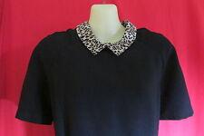 River Island Skater/Swing Black Dress/Animal Print Trim NWOT Size L/XL*REDUCED