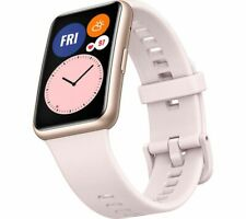 HUAWEI Smart Watch Fit Water Resistant GPS Silicone Strap Sakura Pink - Currys