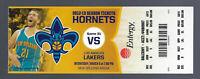 2012-13 NBA LOS ANGELES LAKERS @ HORNETS FULL UNUSED TICKET - KOBE BRYANT Mar 6