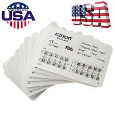 10X USPS AZDENT Dental Orthodontic Metal Brackets Mini Roth Slot.018 Hooks 3-4-5
