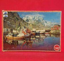 Vintage Sealed Damm 1843 Jigsaw Puzzle Norgeserien Ballstad Lofoten - 500 Pieces