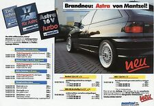 Prospekt mantzel Opel 1992 Astra calibra Vectra Kadett E brochure auto automóviles