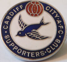 CARDIFF CITY AFC Rare vintage SUPPORTERS CLUB Badge Maker GLADMAN & NORMAN B'ham