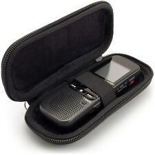 Black EVA Zipper Carrying Hard Case Cover for Digital Voice Recorder 125x50x22mm