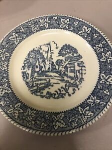 HomerLaughlin Stratwood  Collection Shakespeare Country Blue Dessert/Pie Plate