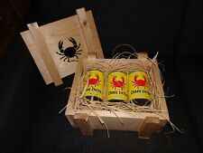 """Tintin Kuifje""""Le Crabe aux pinces d'or"""" caisse bois provenant du KARABOUDJAN"""