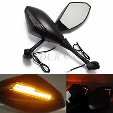 Motorcycle LED Turn Signal Fairing-Mounted Mirror Universal For SUZUKI GSX-R1000