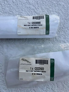 Genuine Jaguar Windshield Wiper Blades Driver & Passenger C2D30569 & C2Z22422