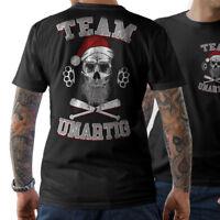TEAM UNARTIG T-SHIRT Weihnachten Weihnachtsmann Bad Santa Evil Skull Totenkopf