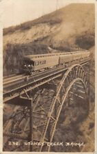 STONEY CREEK BRIDGE BRITISH COLUMBIA CANADA~BYRON HARMON REAL PHOTO POSTCARD ***