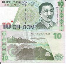 KYRGUISTAN 10 SOM 1997 LOTE DE 5 BILLETES