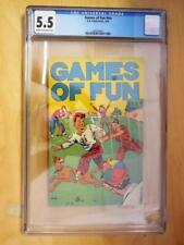 Games of Fun  #nn   CGC Graded 5.5  1934 K K Publications   Super Rare
