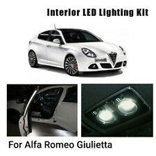 KIT FULL LED INTERNI ALFA ROMEO GIULIETTA PLAFONIERA ANTERIORE+POSTERIORE 6000K