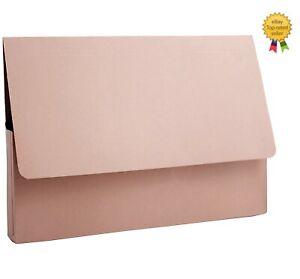 25 x 315gsm Foolscap Cardboard Document Wallets A4 Paper Storage Files Folders