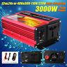 3000W Car Solar Power Inverter DC12/24/48V To AC110/220V Sine Wave Converter  -