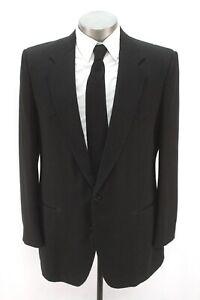 mens black CIRCLE S cowboy western blazer jacket sport suit coat wool 44 L