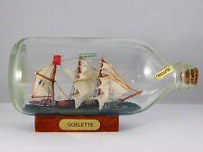 BATEAU GOELETTE  EN BOUTEILLE  LE RICKMER RICKMERS BOTTLE SHIP  COLLECTION