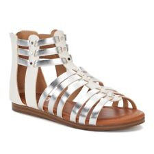 6880b18be55e SO Girl s Applaud White   Silver Gladiator Sandals Girl Size 2 Sandal Shoes