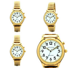 Ladies Expanding Gold Plated Strap Radio Controlled Talking Watch 2 yrs Warranty