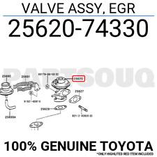 2562074330 Genuine Toyota VALVE ASSY, EGR 25620-74330