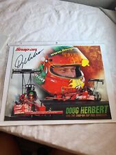Signed Doug Herbert  Snap on Top Fuel Dragster NHRA Photo Card 8 X 10 N253