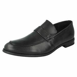 Vente Hommes Maverick Leather à Enfiler Smart Chaussures Travail A1r117