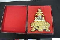 Empty Jim Beam 175 Month 1972 C. Miller Regal China Collector Bottle & Case