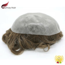 Full Poly Mens Toupee Thin Skin Mens Hairpieces PU Men Hair Replacement Systems