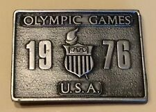 Vintage 1976 Olympic Games U.S.A. Belt Buckle Bergamot Brass Works Co. Heavy