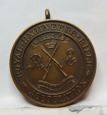 WW1 era Royal Engineers Rifle Association Medal Unnamed Bronze 35mm