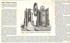 POMPE A PISTONS HERMANN-LACHAPELLE & GLOVER ARTICLE DE PRESSE 1870
