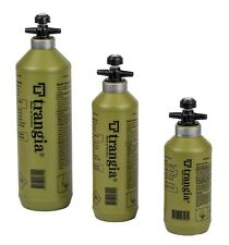 Trangia Fuel Bottle with Safety Valve - 3 Sizes 0.3L, 0.5L or 1 Litre - OLIVE