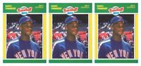(3) 1989 Fleer Baseball MVP's Baseball #36 Darryl Strawberry Lot New York Mets