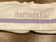 Pottery Barn Kids Diaper Caddy Liner Purple Ribbon Samantha New