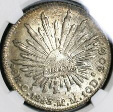 1883-Ca NGC MS 63 Mexico 8 Reales Chihuahua Mint Silver Coin (20092704C)