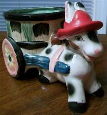 Cute as Can Be Vintage Donkey Pulling Cart - Colorful Planter