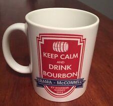 Barack Obama - Mitch McConnell Kentucky Bourbon Summit 2014 Mug - Keep Calm Drin