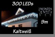 300 Eisregen Eiszapfen Lichterkette LED für Weihnachten kaltweiß IP44