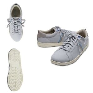 Crocs Torino Gray Blue Sneaker Shoes Lace Up Striped Canvas Mens Size 10 NEW