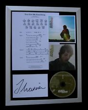 JAMES MORRISON+SIGNED+FRAMED+GIVE ME SOMETHING=100% AUTHENTIC+FAST GLOBAL SHIP