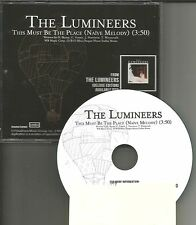 THE LUMINEERS This must be the Place NAIVE MELODY PROMO DJ CD Single 2014 USA