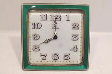 Vintage Art Deco Swiss Guilloche Concord Watch Co. 15 Jewels Clock