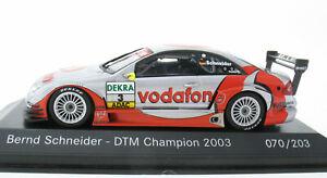 MINICHAMPS - AMG Mercedes C-Class DTM 2003 B. Schneider Limitiert 070/203 - 1:43
