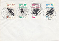 West Germany 1971 Olympic Games set of 4 on Altena Unadressed Cover
