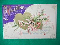 Vintage Embossed Valentine Postcard John Winsch You make a Football..