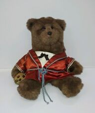 "Vintage GUND 1983 Dennis Kyte ABINER SMOOTHIE 19"" Bear with Silk Robe and Cookie"