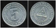 NICARAGUA  5 centavos  1974  ( bis )