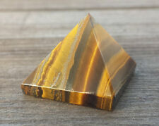 NATURAL TIGER EYE SMALL GEMSTONE PYRAMID 20-22mm